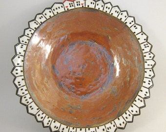Forty-Two...Bowl in Stoneware ( 22 cm / 9 in. )