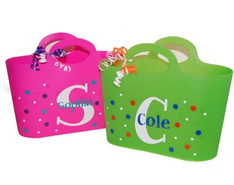 Personalized Bubble Tote / Gift Basket / Beach Bag / Easter Basket - Monogram