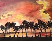 """Watercolor Landscape 8""""x11"""""""