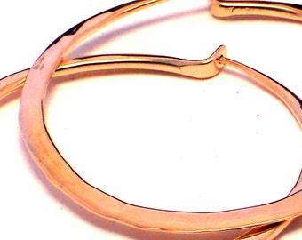 Hammered Hoops in 14k Gold filled