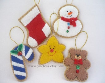 Felt Christmas Ornament Tree Ornaments Christmas Ornaments Felt Christmas tree decoration