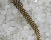 Beautiful vintage hair barrette gold tone, looks Like dragon scales