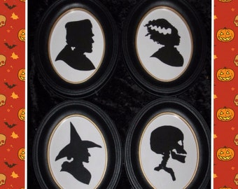 Ghoulish Gallery Halloween Silhouette Set