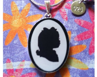 Custom Silhouette Pendant - One Subject - INCLUDES Hand Cut Portrait
