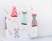 Fabric Greeting Card - Dresses