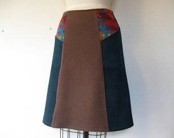 SALE Daria wool paneled skirt Sz 2