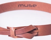Camel Muse Leather Belt 1.25 inch  Nickel-Free/ Vegetable tanned leather