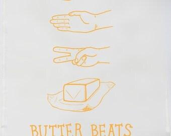 Tea Towel - Butter Beats Everything