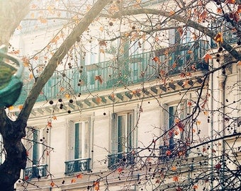 Afternoon light in Montmartre - soft blue and grey tones Paris, France - Paris Photography, winter in Paris, French wall art