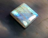 Rainbow Moonstone - Rainbow Moonstone Cabochon - cab - gemstone - square rectangle  white  - sri lanka - aaa - blue purple  fire