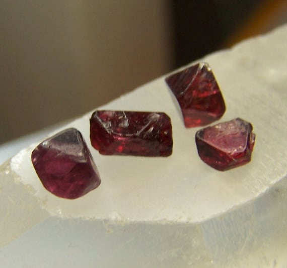 Spinel Crystals Rich Red Crystal Myanmar Burma Mogok
