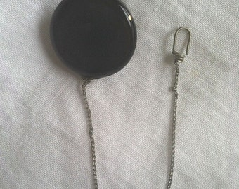 Vintage Black Bakelite Watch Pin