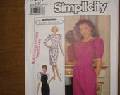 Simplicity Pattern 9447 - Misses dress with softly gathered skirt stitched to a princess seamed bodice Size 8 - 14