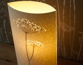 Tall Oval Cow Parsley Table Lamp