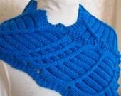 knitting pattern lace knit cowl scarf pdf knitting pattern cowl scarf neckwarmer - Spokes PDF Hand Knit Cowl Pattern