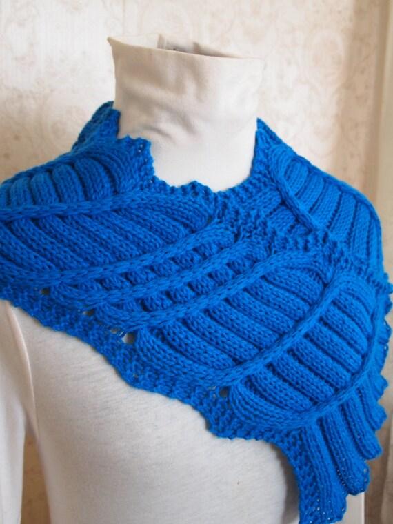 knitting pattern lace knit cowl scarf pdf knitting pattern