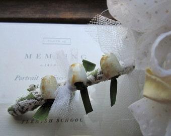 Vintage Fabric Gift Bouquet * Unique Handmade Flower Poms * Vintage Gift Idea's * Home decor * Sentiment * Moms * Friends * Keepsakes *