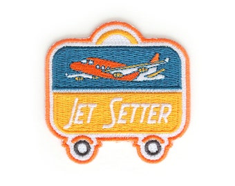 Jet Setter Iron On Patch