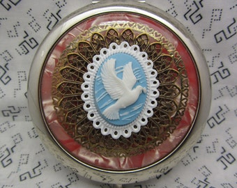 Bridesmaid Gift Compact Mirror The Love Dove Comes With Protective Pouch