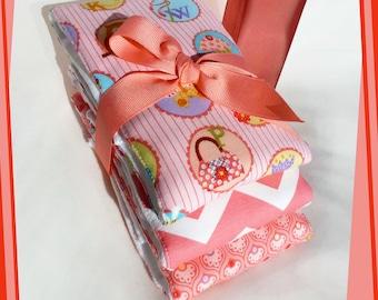 Peaches and Cream Baby Item Chevron Baby Girl Burp Cloths Pink Alphabet Newborn Gift Set Best Full Size Premium Cloth Diapers