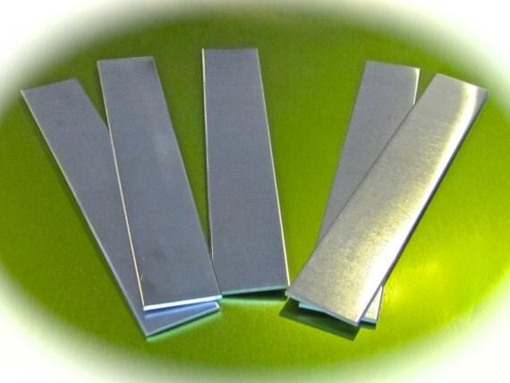 6 RAW 1 x 6 Inch 14 Gauge SQUARE Corners Bracelet Blank Cuffs Pure Food Safe Aluminum - FLAT- Remove Protective Film