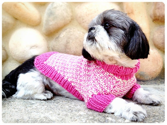 Knitting pattern for tweedledee and tweedledeena dog sweaters - Knitting for dogs sweaters ...