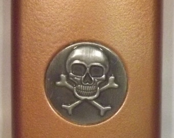 Ready To Ship! 8-oz Stainless Steel Skull & Crossbones Liquor Flask + FREE In-USA Shipping + FREE Funnel! More Color Options Listed Inside!