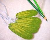grüne Gurke Geschenkanhänger mit Bäcker Bindfaden - fünf-für die liebevolle Pickle-Enthusiasten in Ihrem Leben