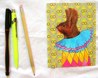 circus squirrel postcard set of two
