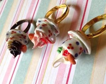 Incredibly Creamy Cream Tea Adjustable Rings