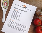 Printable Recipe Page - From The Kitchen Of