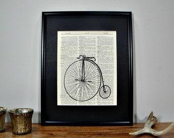 FRAMED 11x14 - Vintage Book Page Dictionary Print - Vintage Cycle