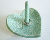 Personalized ceramic ring holder, ring dish, Wedding ring holder, engagement  gift for couples
