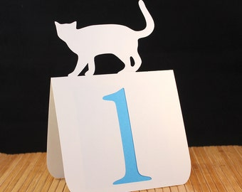 Cat Table Numbers 1 to 25 Wedding