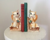 Vintage Squirrel Bookends