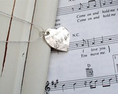 Heart - Fine Silver - Music Lover's Fine Silver Heart - Ready to Ship