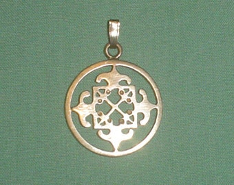 Silver pendant sterling Celtic cross Malcolm Gray Scottish silver vintage 1980s