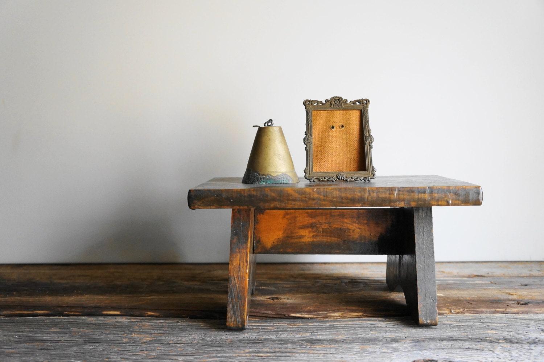 Antique Primitive Wooden Step Stool