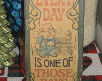 Vintage Wall Sign or Plaque OLD from 1975