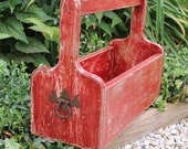 Painted Furniture Red Plant Box