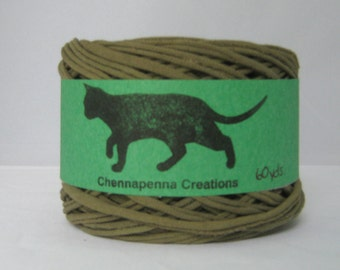 T Shirt Yarn Hand Dyed - Olive Green 60 yards