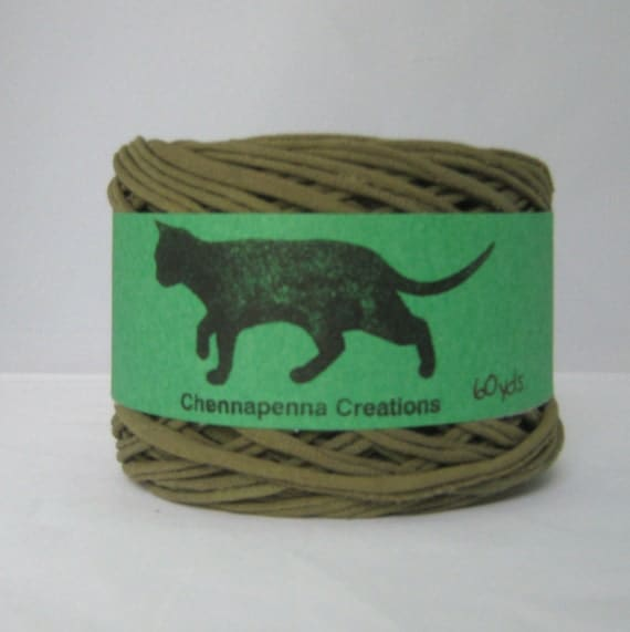 T shirt yarn hand dyed olive green 60 yards from for T shirt printing st charles mo