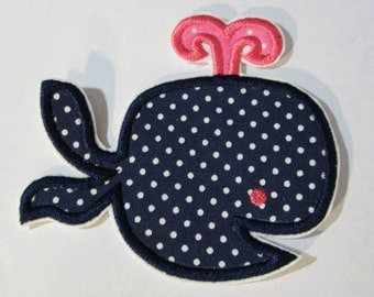 Iron On Applique - Cute Girly Whale