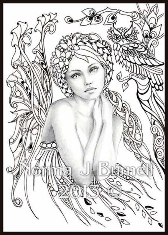 fall fairy coloring pages - photo#21