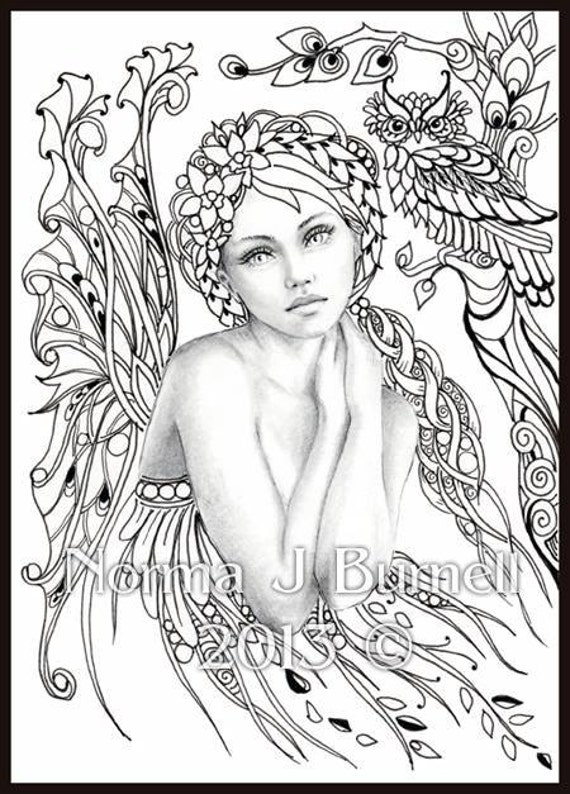 Autumn S Dreamer Fairy Tangles Coloring Sheet By