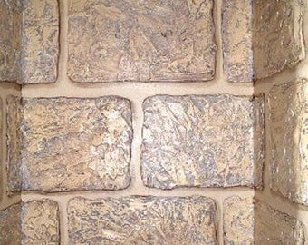 Raised Plaster Stencil Rough Bricks Wall Stencil Stone Stencil