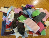 RESERVED for Melissa - Cuffs from felted wool cashmere angora sweaters for your crafting fun
