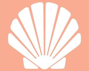Scallop seashell wall decal