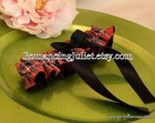 Classic Tartan Skirted Satin Bridal Garter....Custom Colors Available..shown with black accent