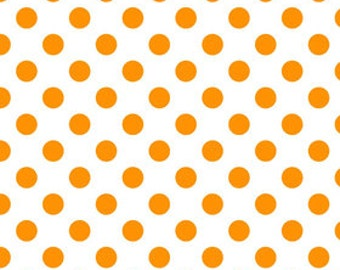 BLACK FRIDAY SALE - Medium Dot in Neon Orange - C490-105 - Riley Blake Designs